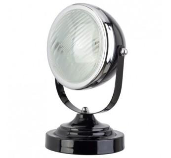 Plein phare sur cette Lampe de bureau . Base en métal . Abat-jour en métal et verre. Câble en plastique et cuivre - 35€ - http://fouduvolant.com
